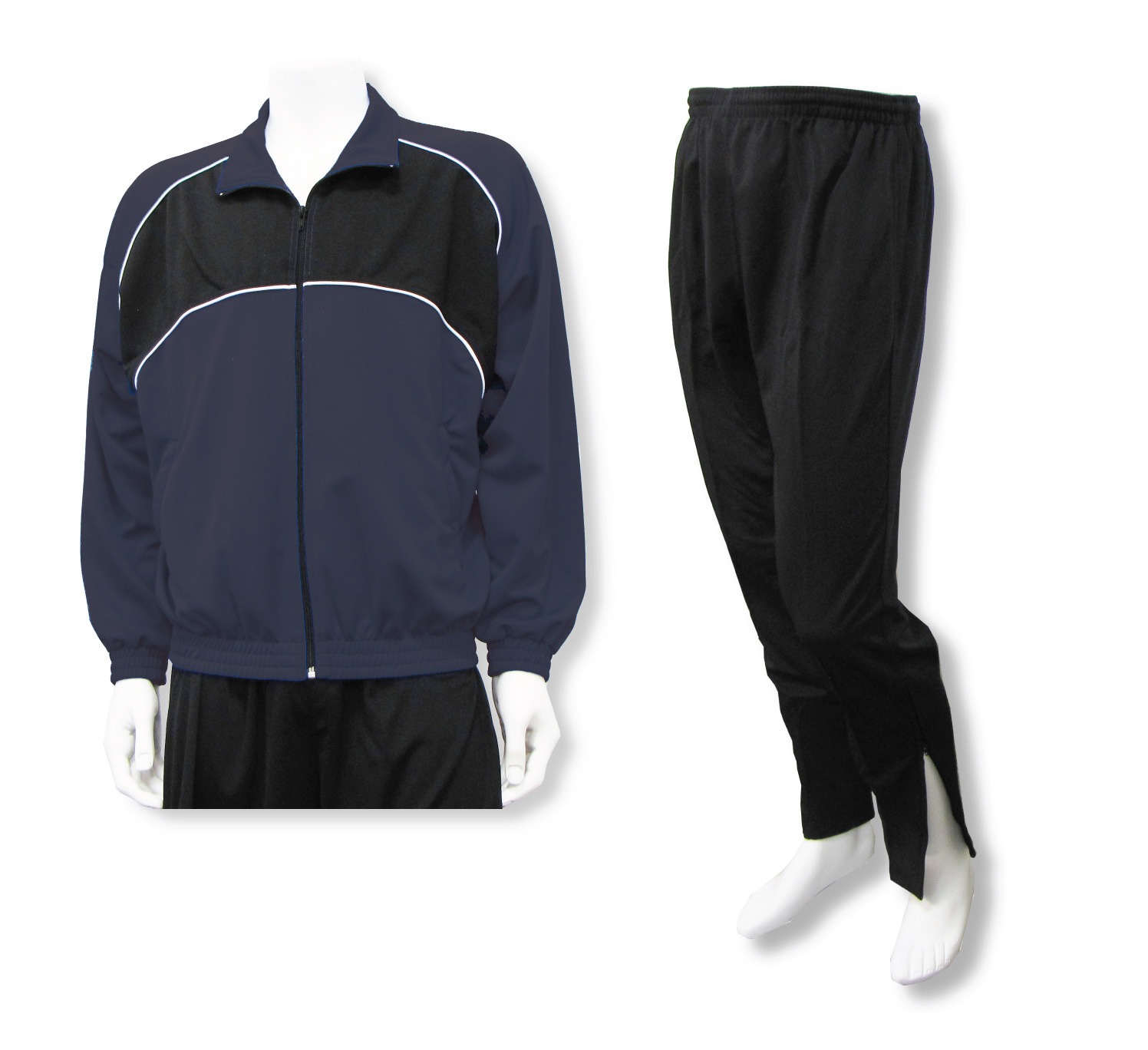 Crossfire soccer jacket and pant set in navy by Code Four Athletics