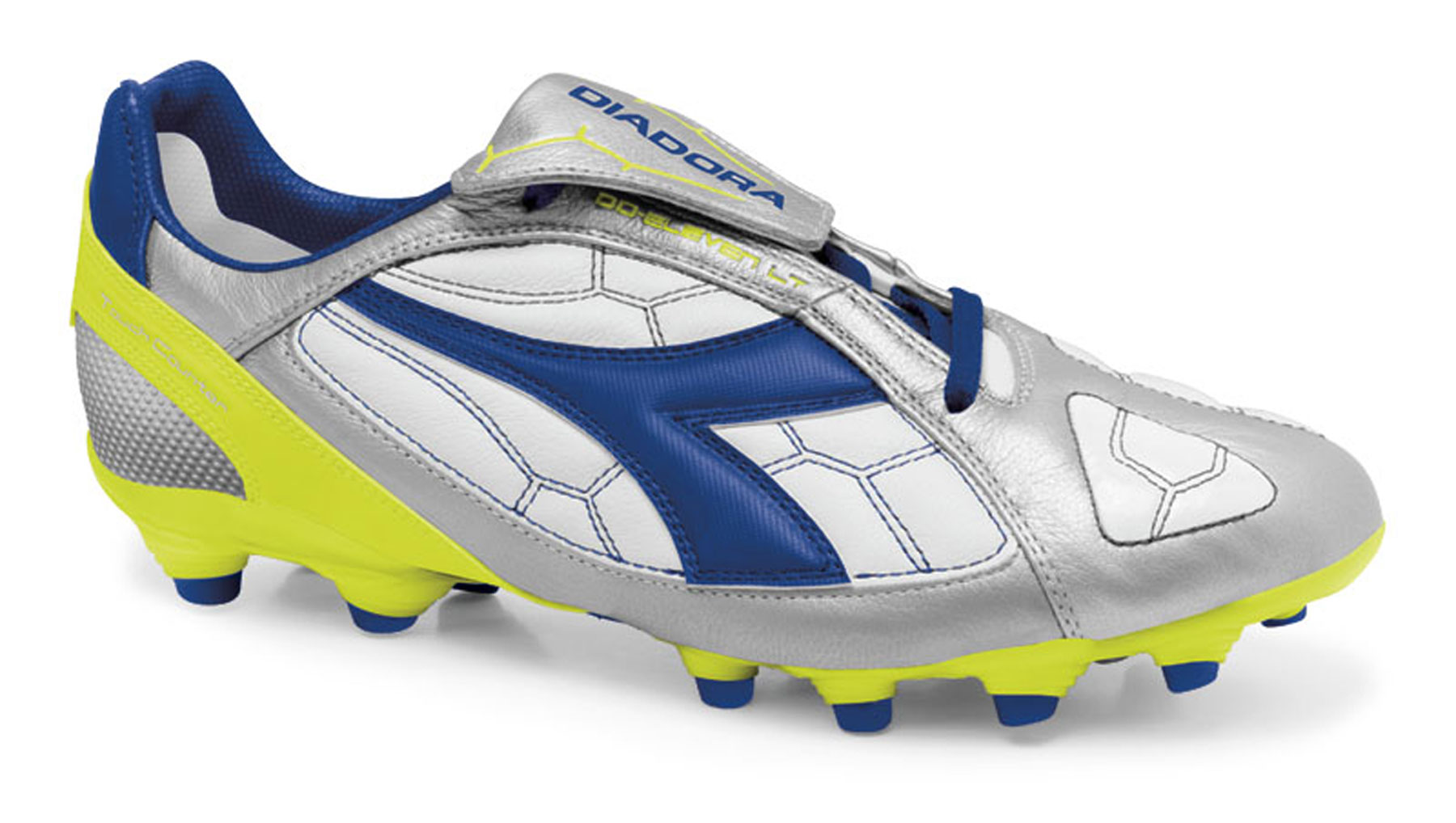 Diadora DD11 soccer cleats in silver by Code Four Athletics