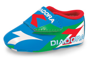 Diadora blue baby booter infant soccer shoes by Code Four Athletics