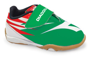 Diadora toddler soccer shoes in green by Code Four Athletics
