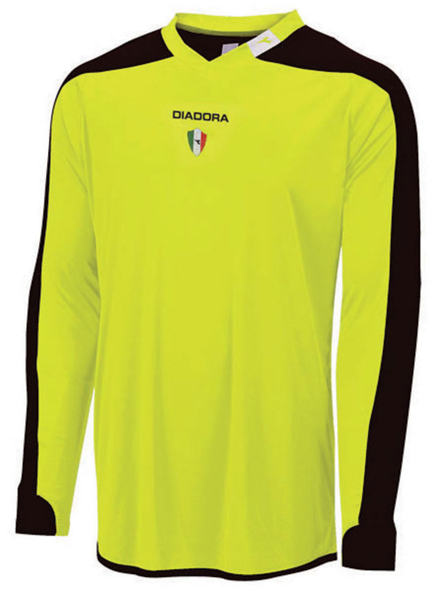 Diadora Enzo keeper jersey in match winner yellow by Code Four Athletics