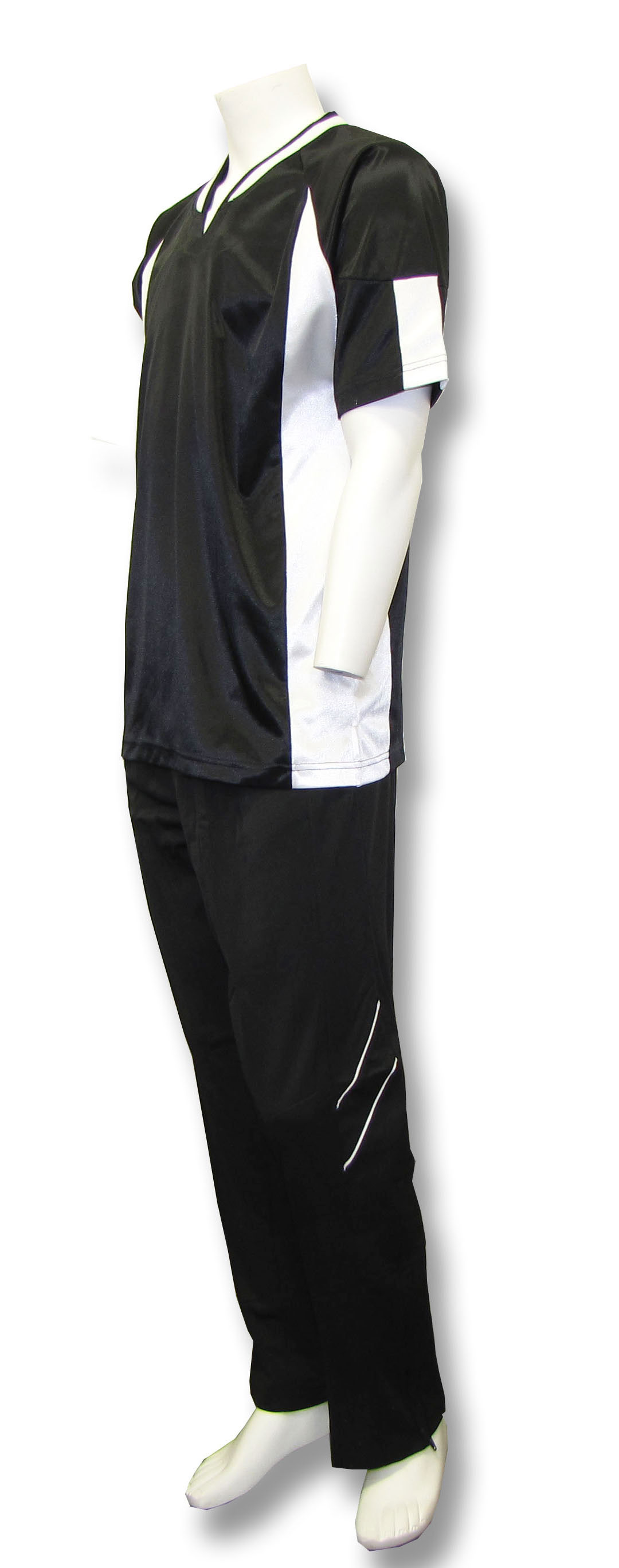 Elite basketball warm ups in black/white by Code Four Athletics
