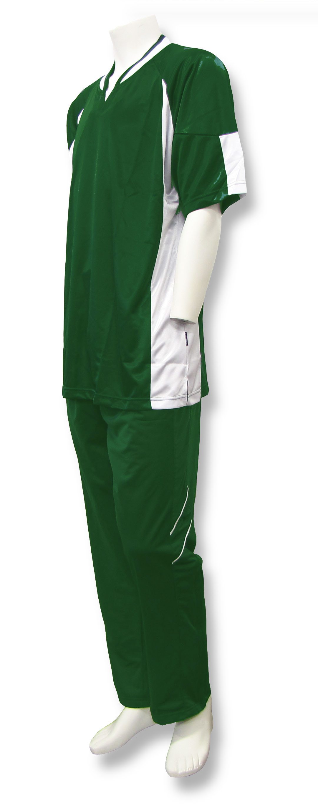 Elite basketball warm ups in forest/white by Code Four Athletics