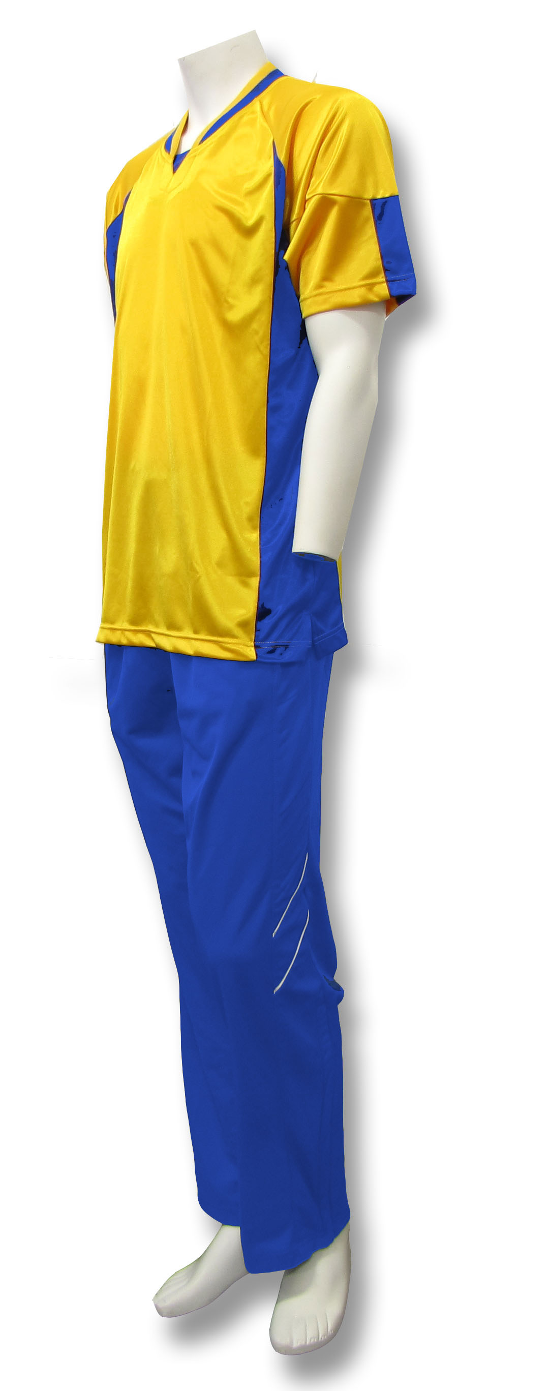 Elite basketball warm ups in gold/royal by Code Four Athletics