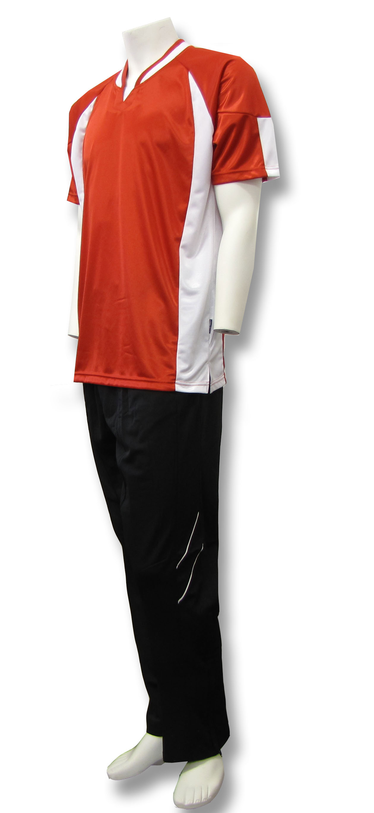Basketball warm ups in red/white/black by Code Four Athletics