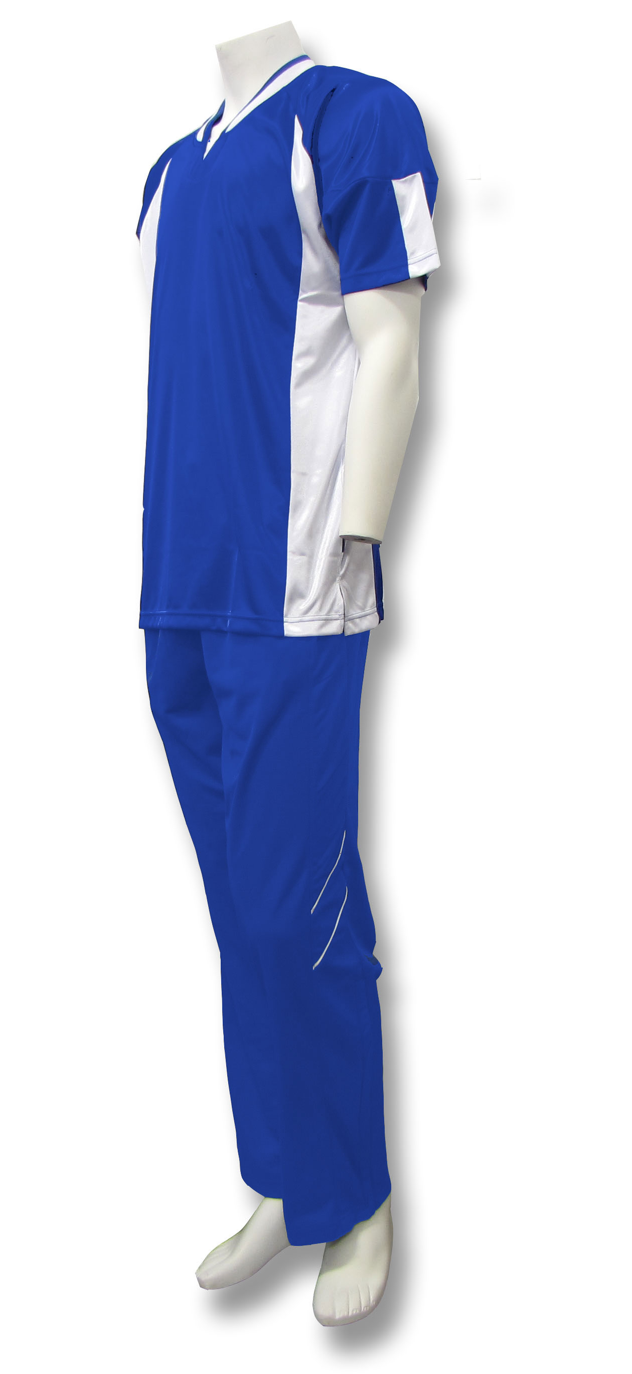 Elite basketball warm ups in royal/white by Code Four Athletics