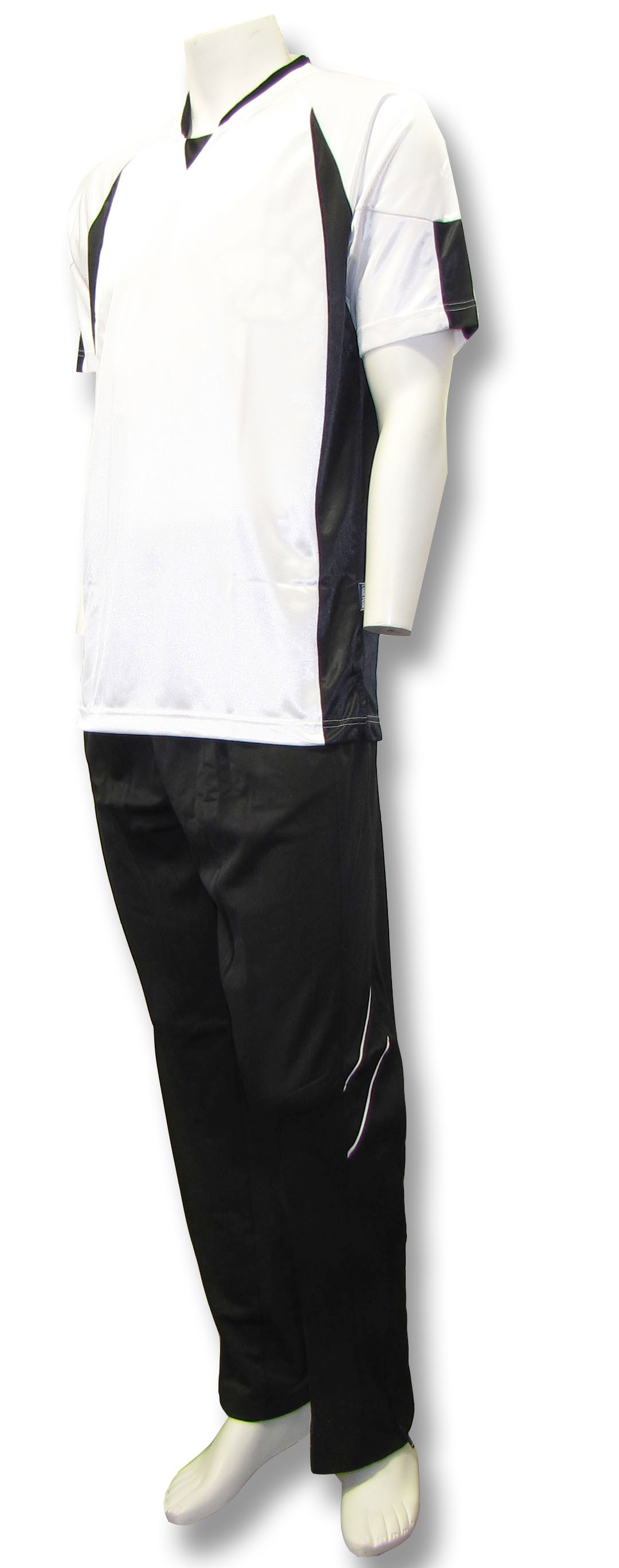 Elite basketball warm ups in white/black by Code Four Athletics