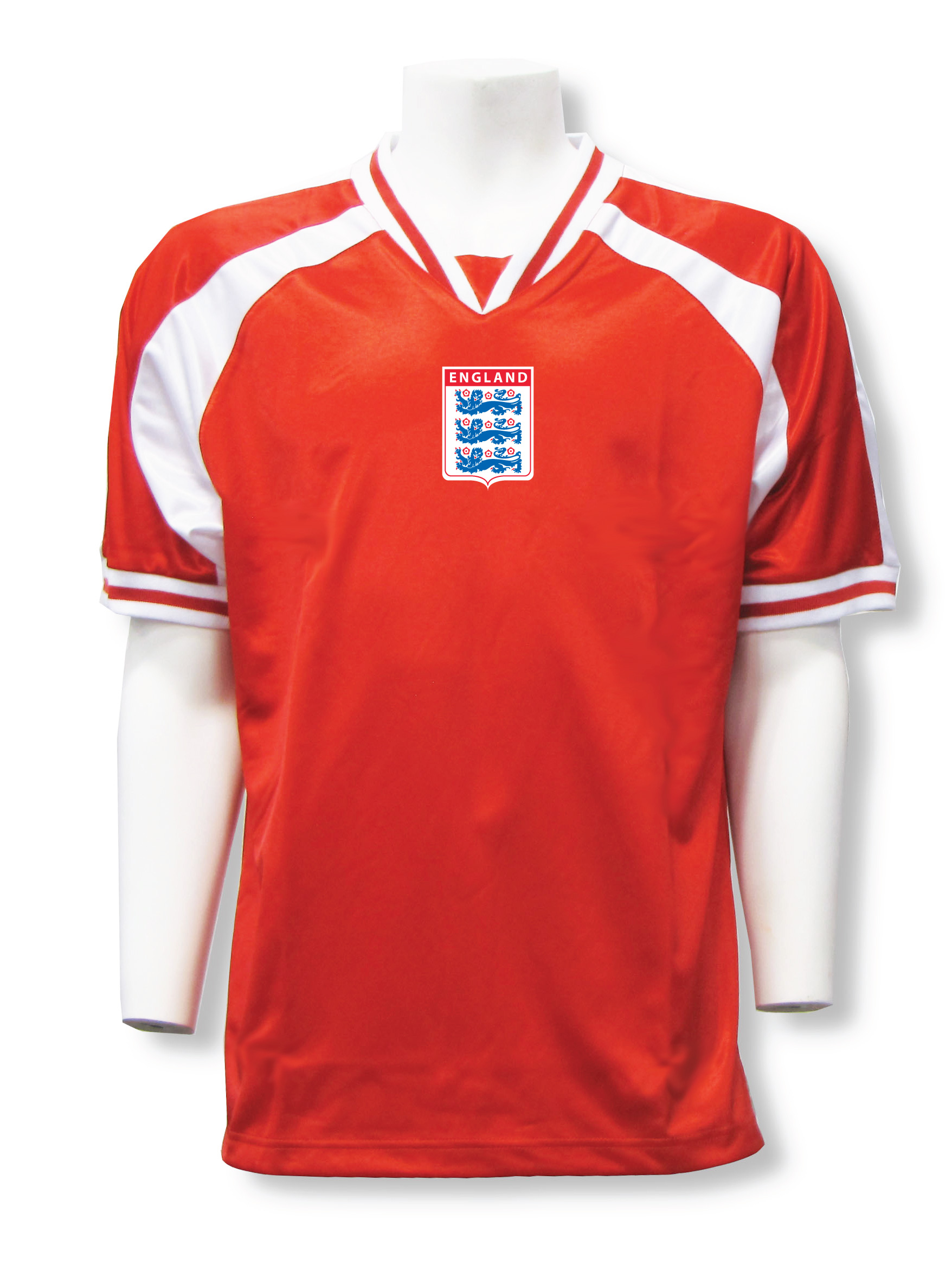 England soccer jersey in red/white Spitfire