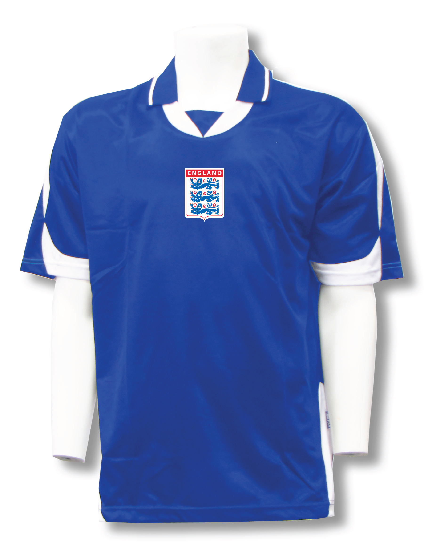 England soccer jersey in royal/white