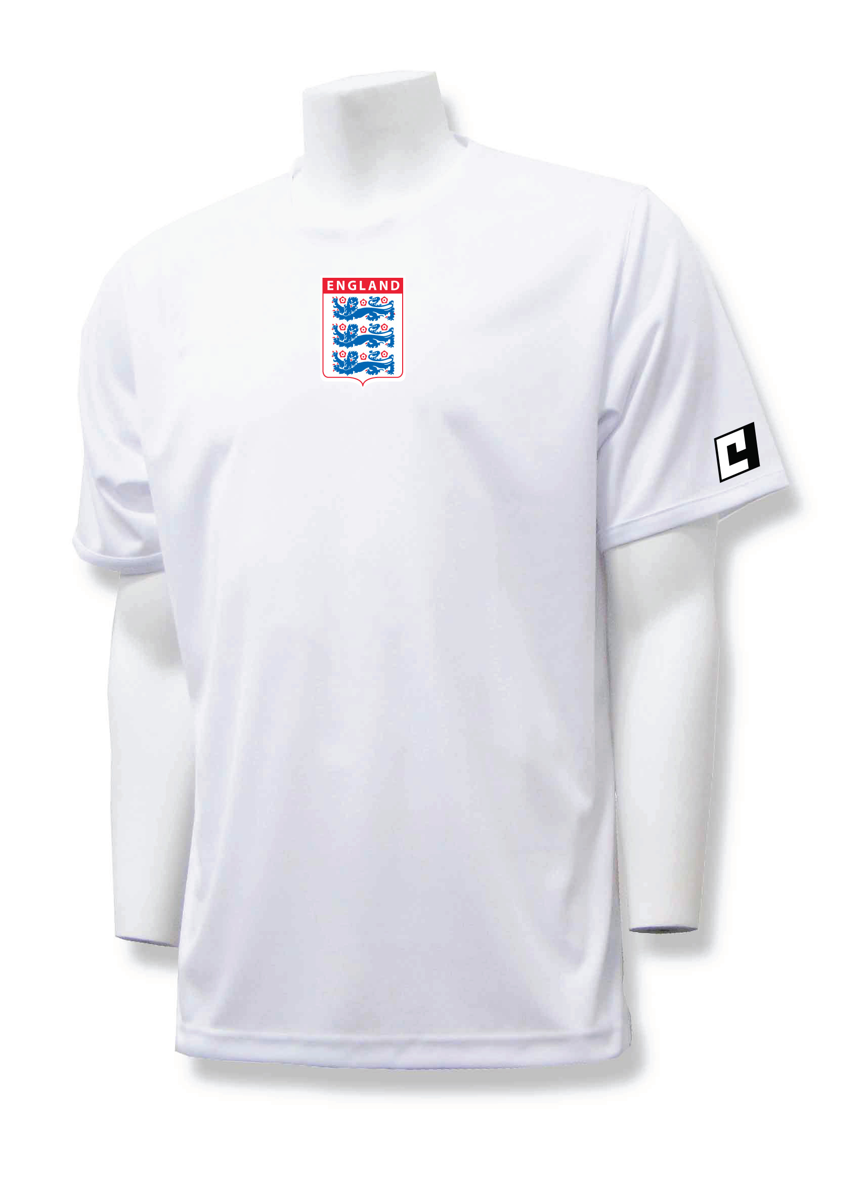 England workout top in white