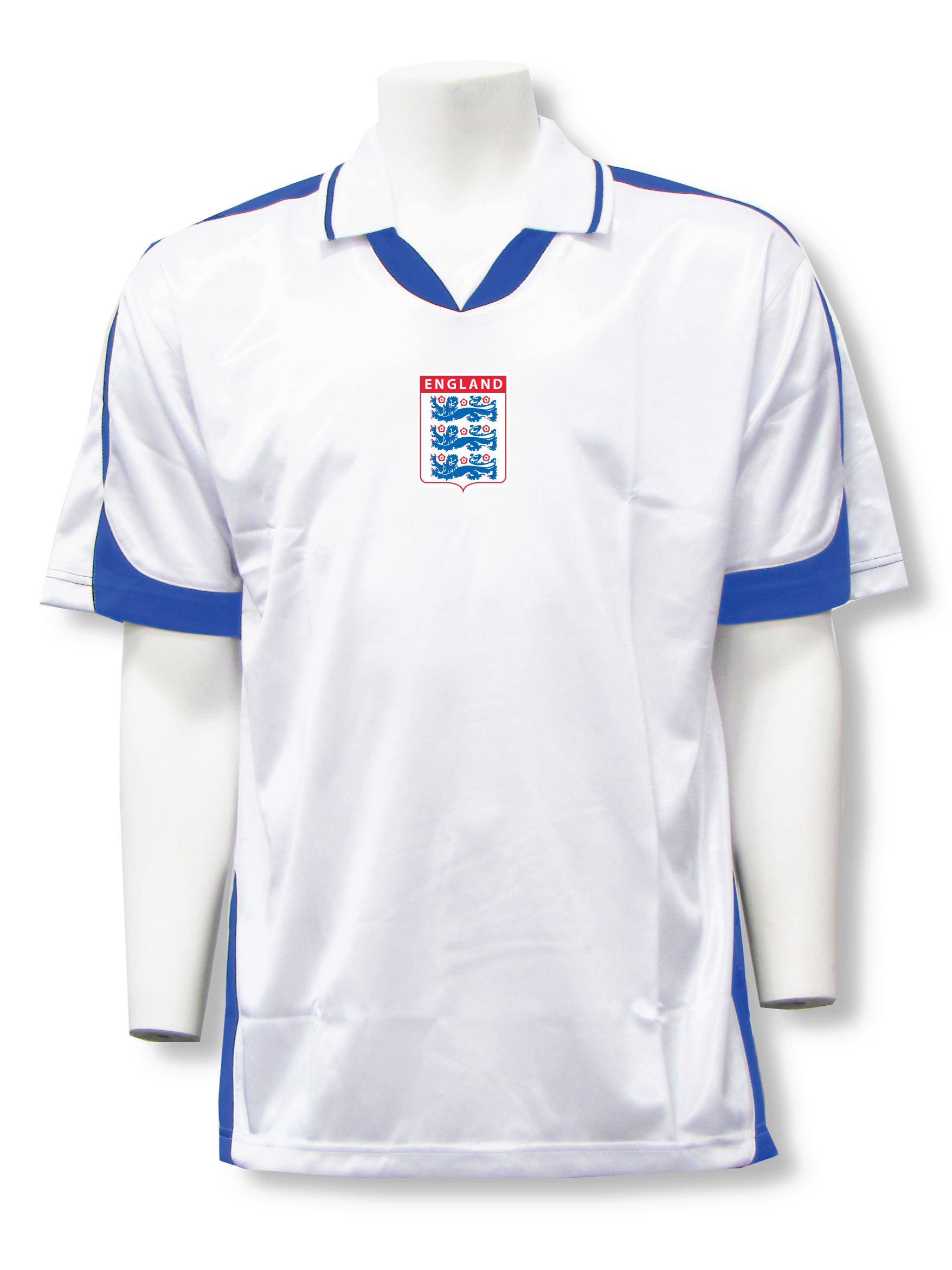 England soccer jersey in whiteroyal