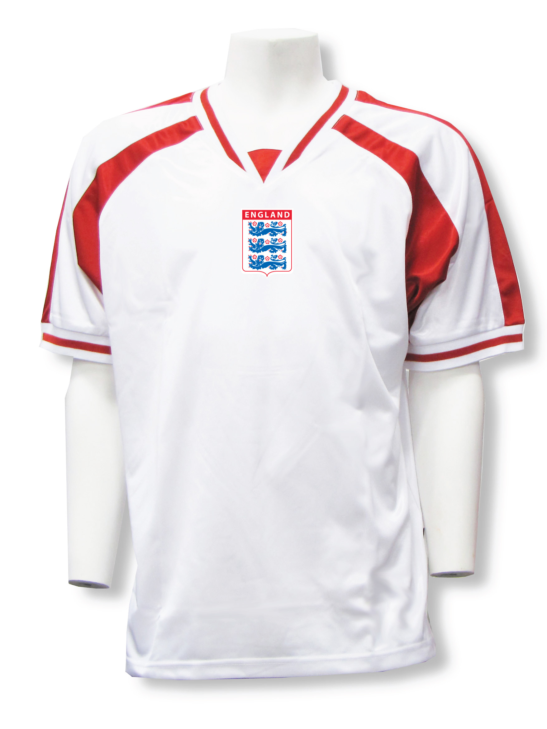 England soccer jersey in white/red Spitfire