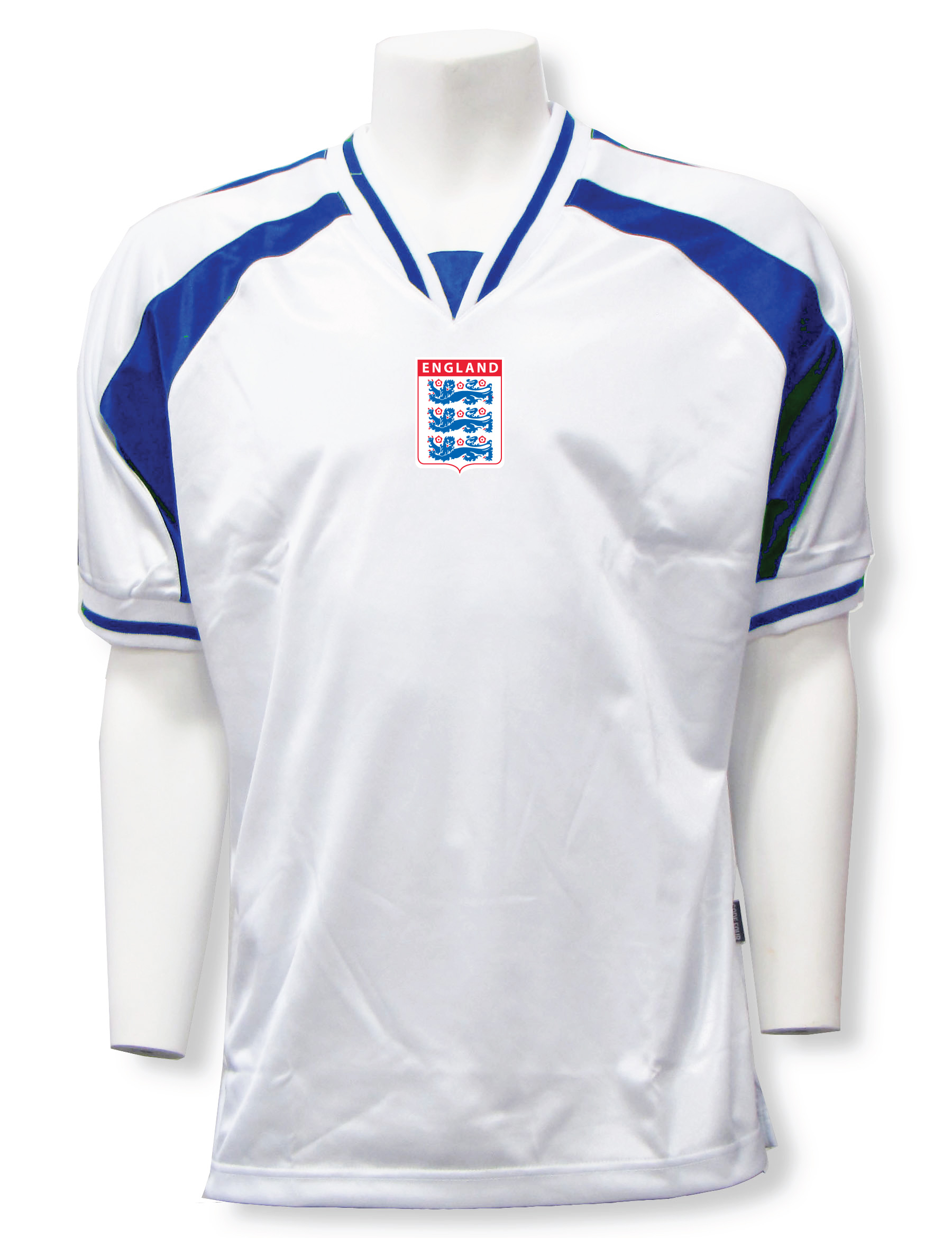 England soccer jersey in white/royal Spitfire