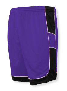 Galaxy soccer shorts in purple