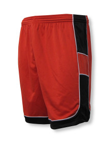 Galaxy soccer shorts in red