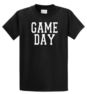 Game Day Tshirt in black by Code Four Athletics