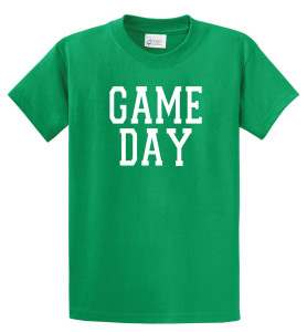 Game Day T shirt in kelly green by Code Four Athletics