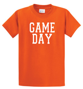 Game Day t shirt in orange by Code Four Athletics