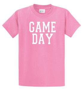 Game Day T shirt in pink by Code Four Athletics