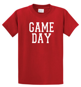 Game Day T shirt in red by Code Four Athletics