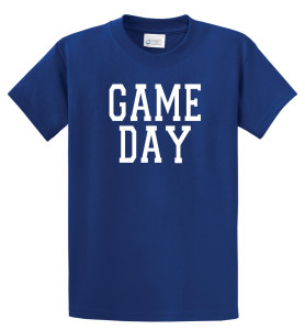 Game Day T shirt in royal by Code Four Athletics