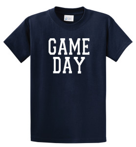 Game Day T shirt in navy by Code Four Athletics