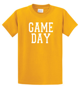 Game Day T shirt in gold by Code Four Athletics