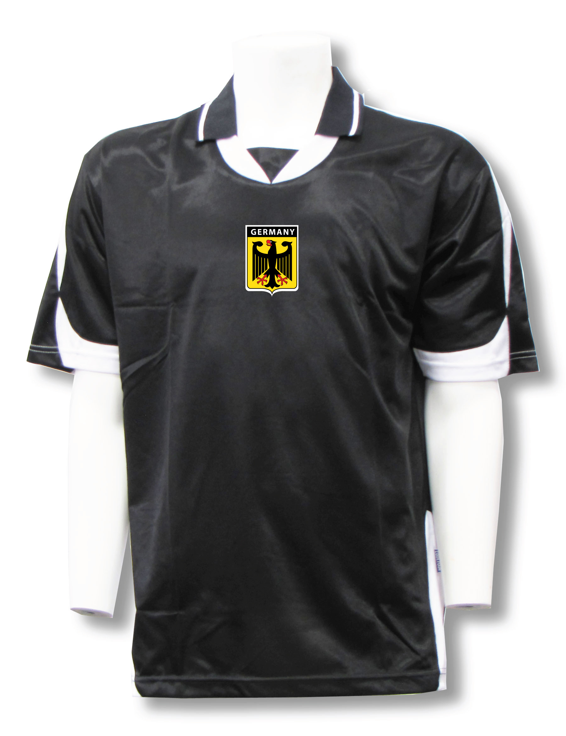 Germany soccer jersey in black/white Alpha