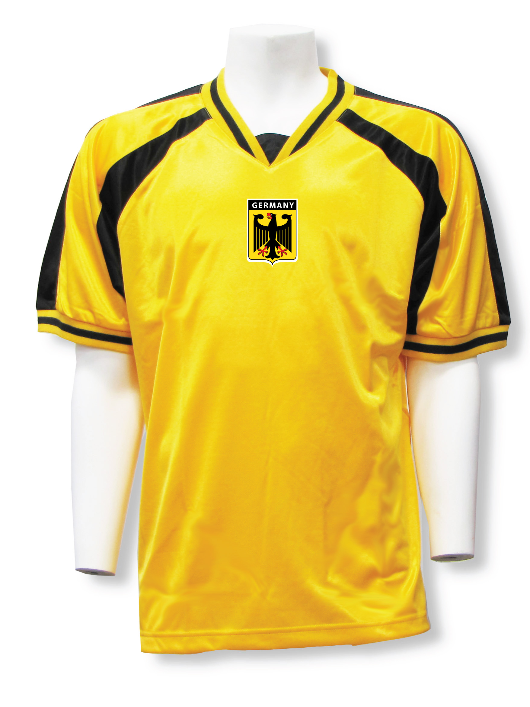Germany soccer jersey in gold/black Spitfire