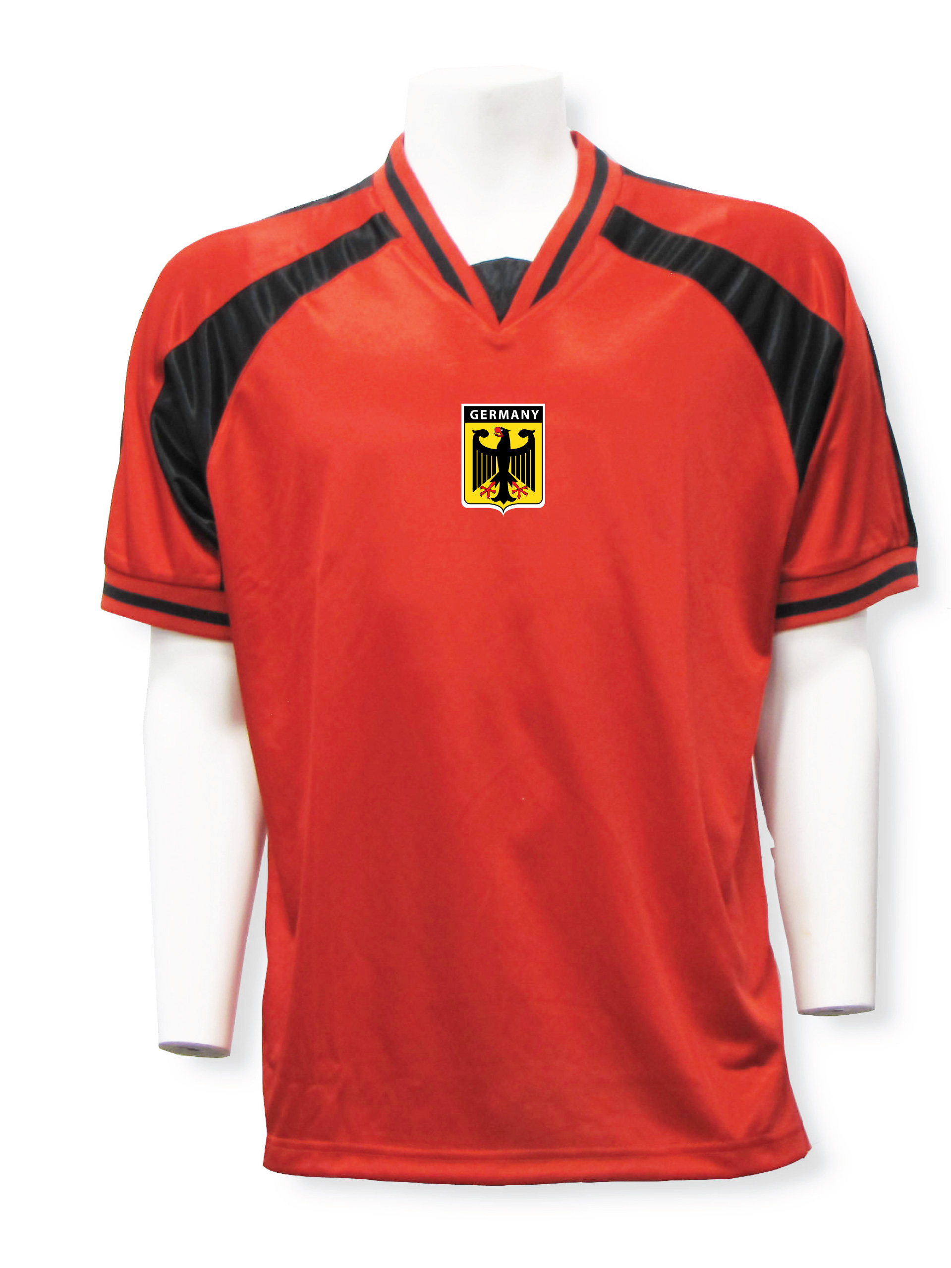 Germany soccer jersey in red/black Spitfire
