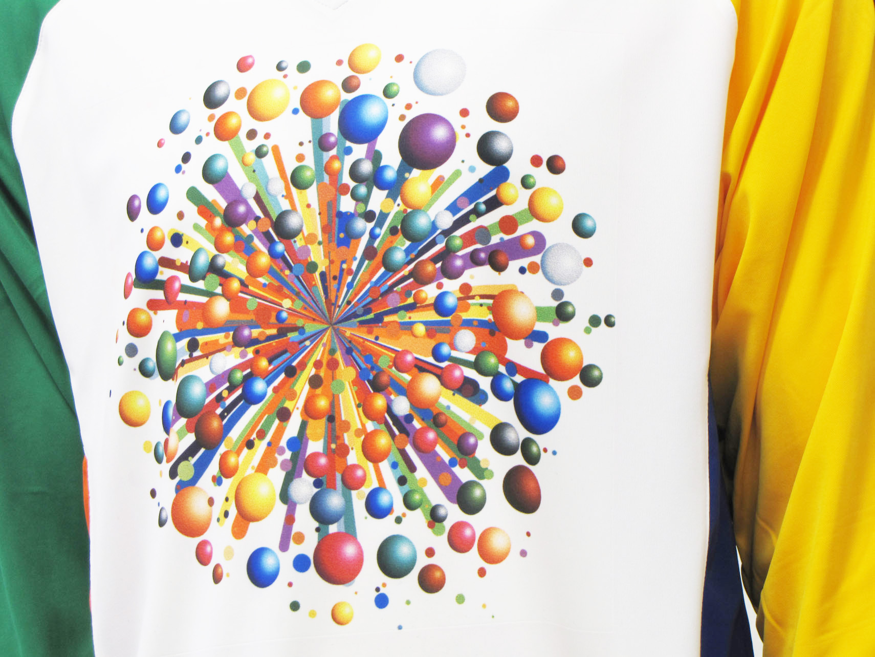 Gumball Wizard soccer goalie jersey closeup by Code Four Athletics