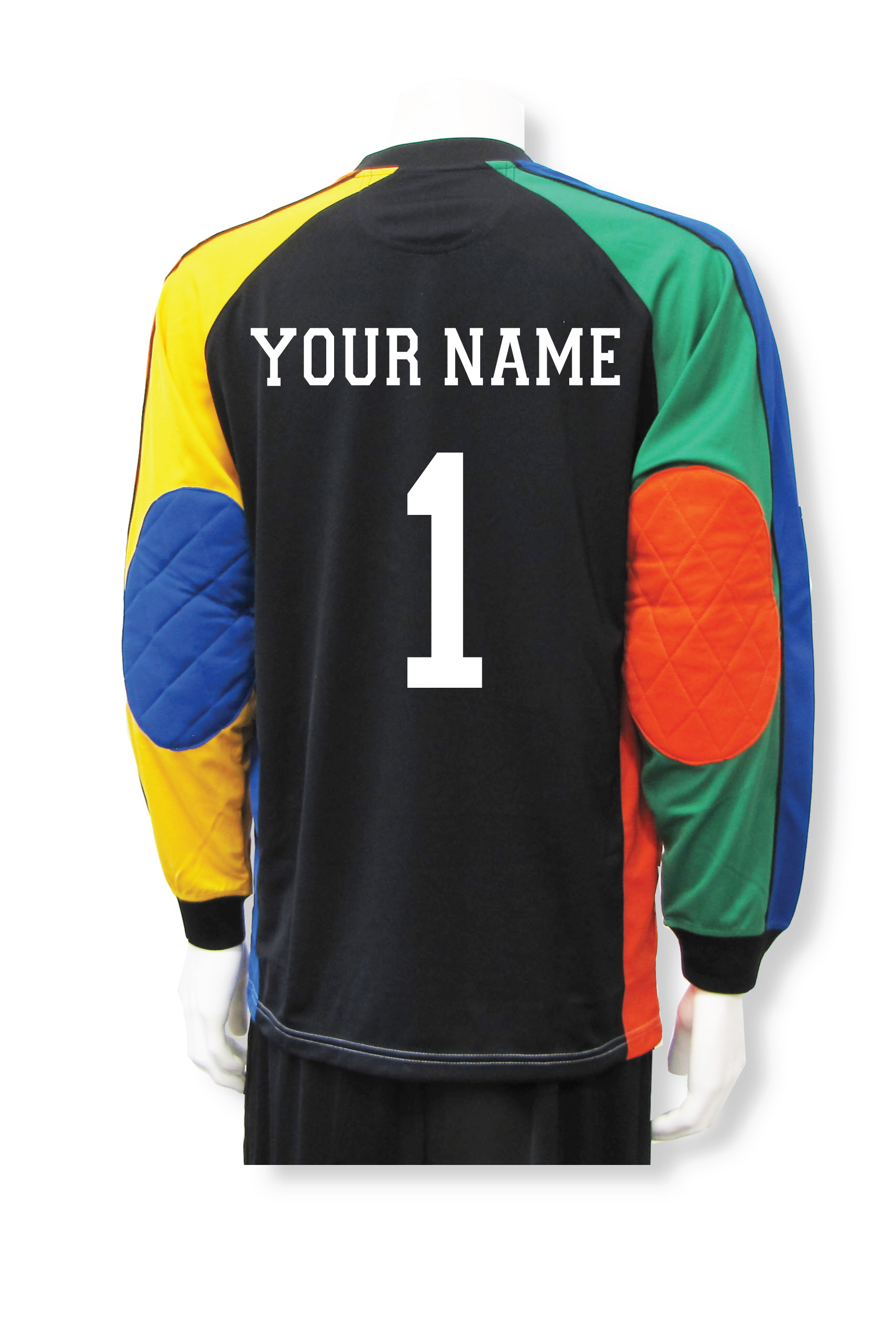 Gumball soccer goalie jersey with name and number on back by Code Four Athletics