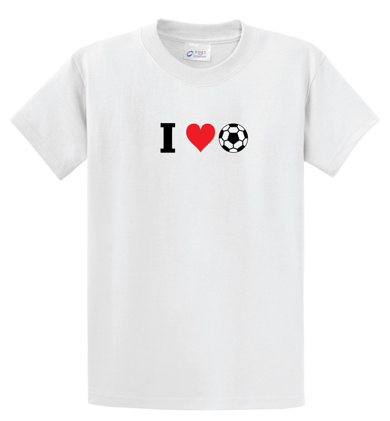 I Love Soccer tee in white