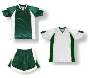 Imperial soccer uniform kit in forest / white by Code Four Athletics