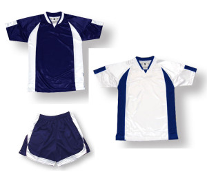 Imperial soccer uniform kit in navy / white by Code Four Athletics