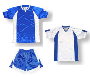 Imperial soccer uniform kit in royal / white by Code Four Athletics