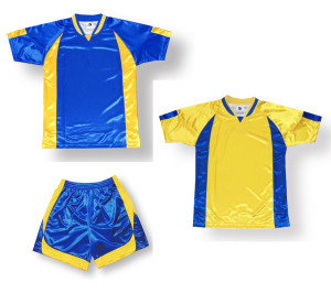 Imperial soccer uniform kit in royal / gold by Code Four Athletics
