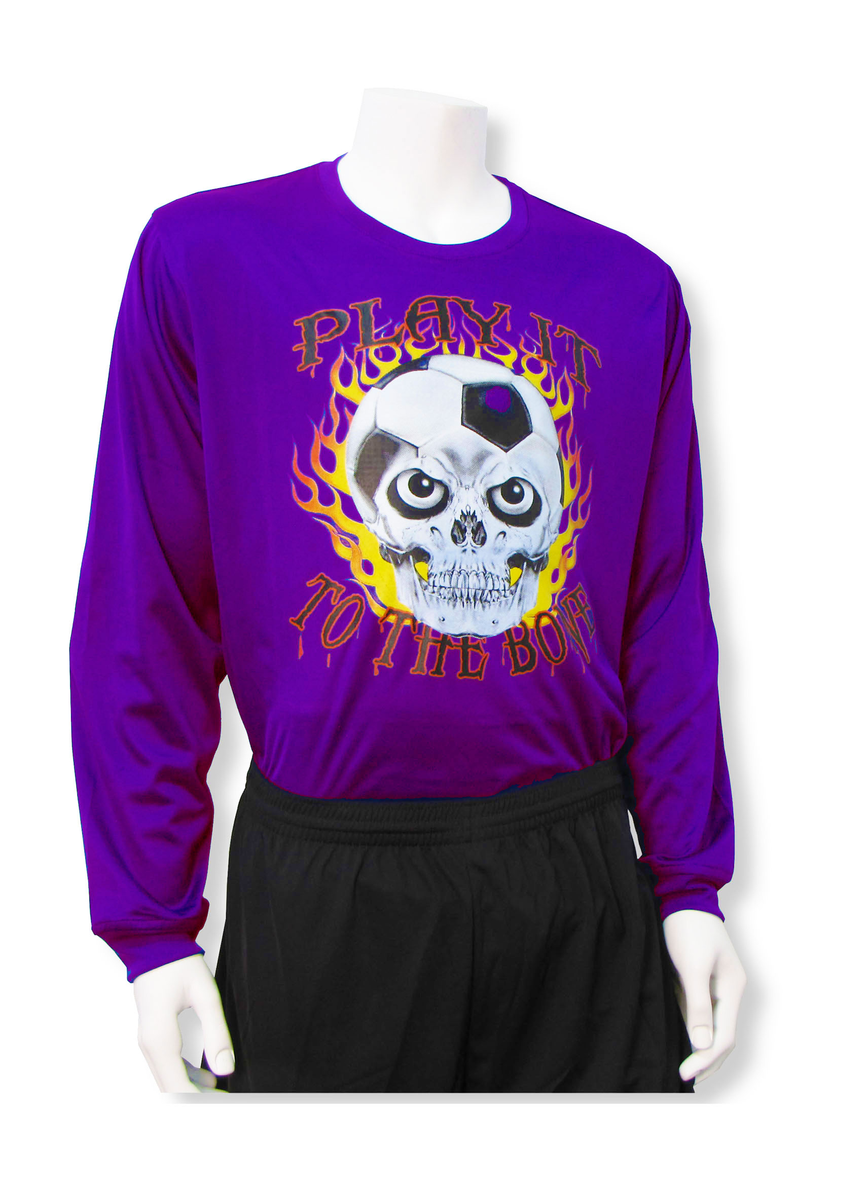 Play It To The Bone soccer keeper jersey in purple by Code Four Athletics