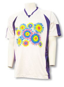 short sleeve keeper jersey with tie dye logo by Code Four Athletics