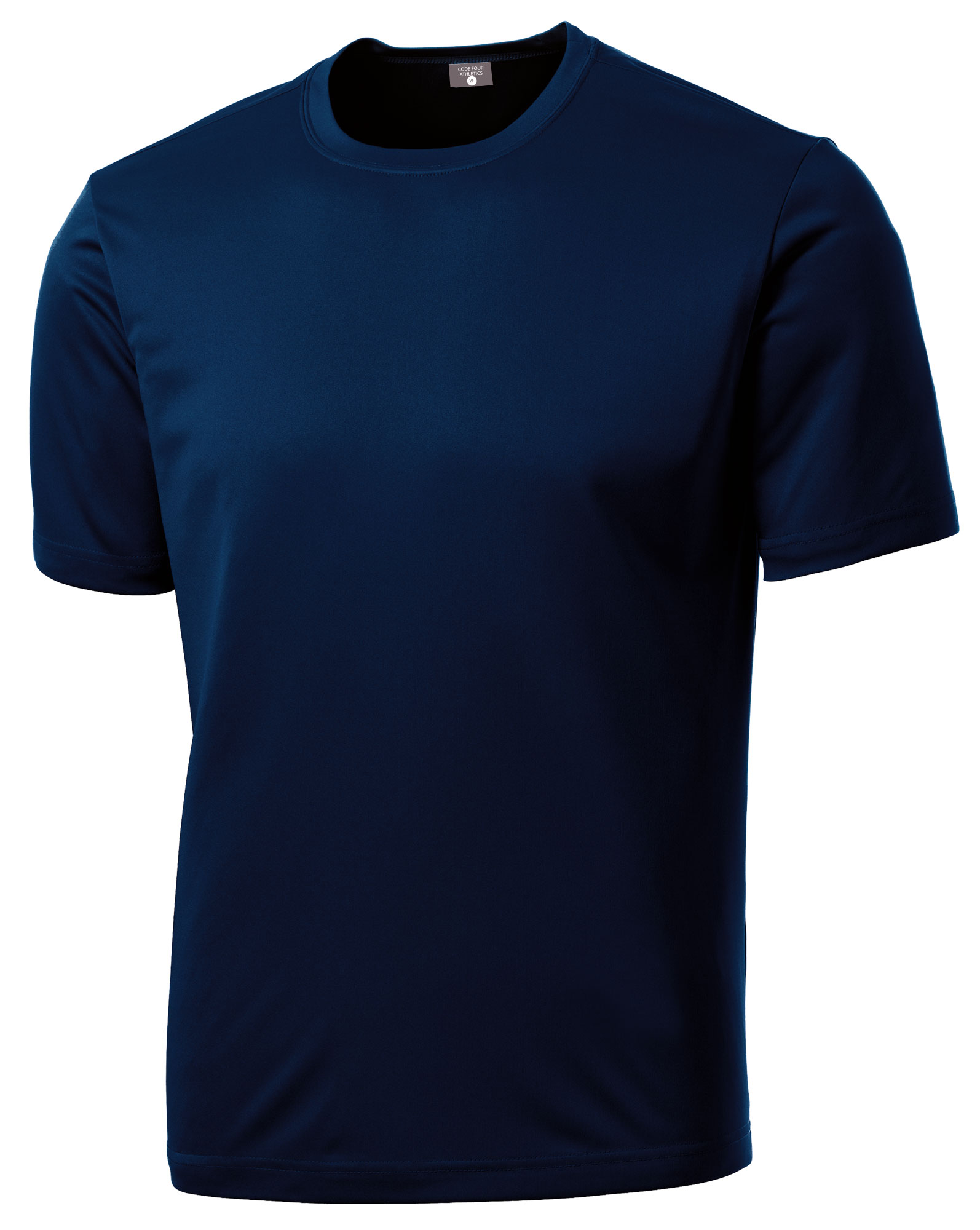 LIteTech soccer training top in navy by Code Four Athletics