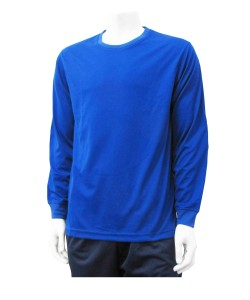 Long sleeve soccer keeper jersey in royal by Code Four Athletics