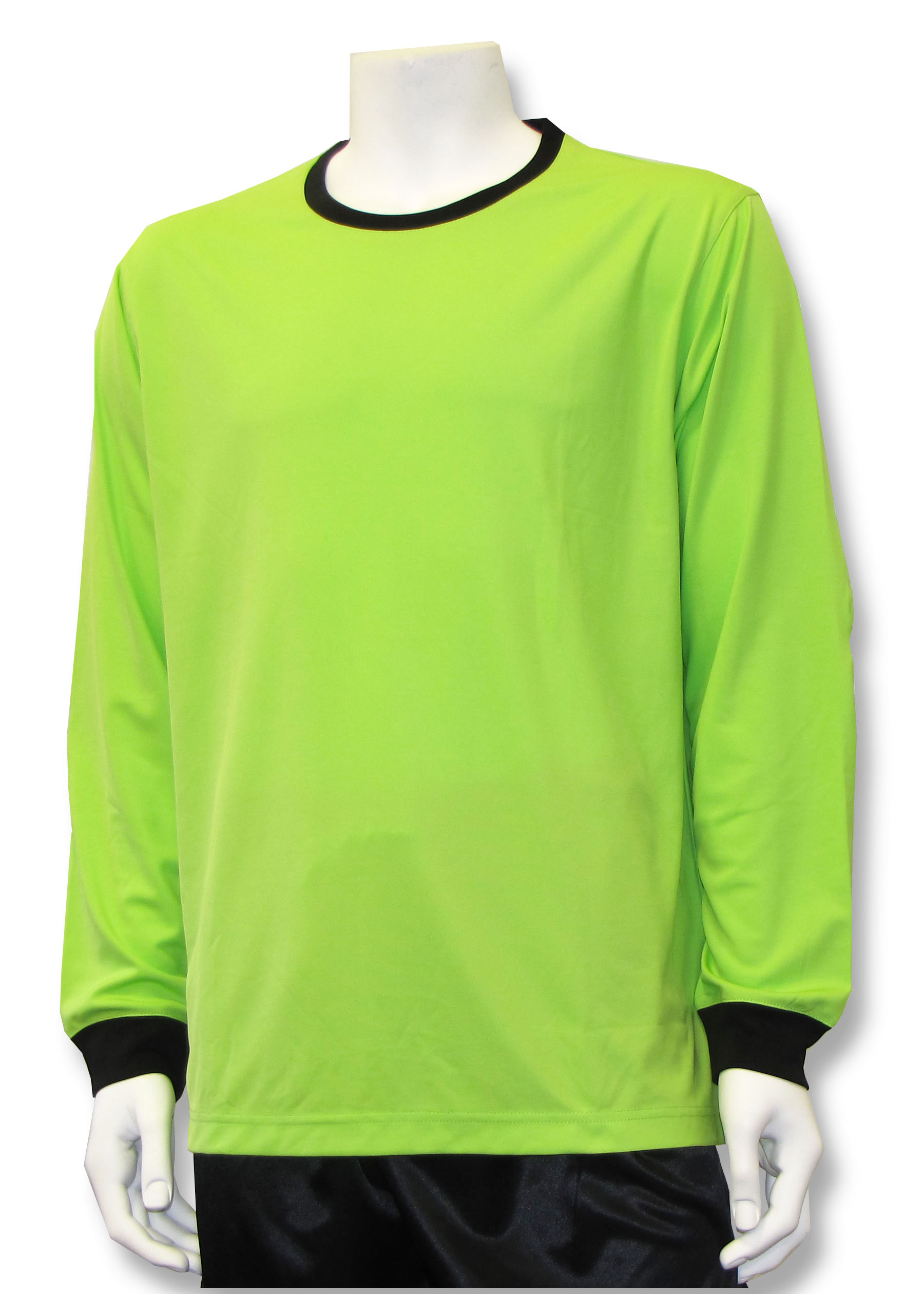 Long sleeve soccer goalie jersey in lime by Code Four Atheltics