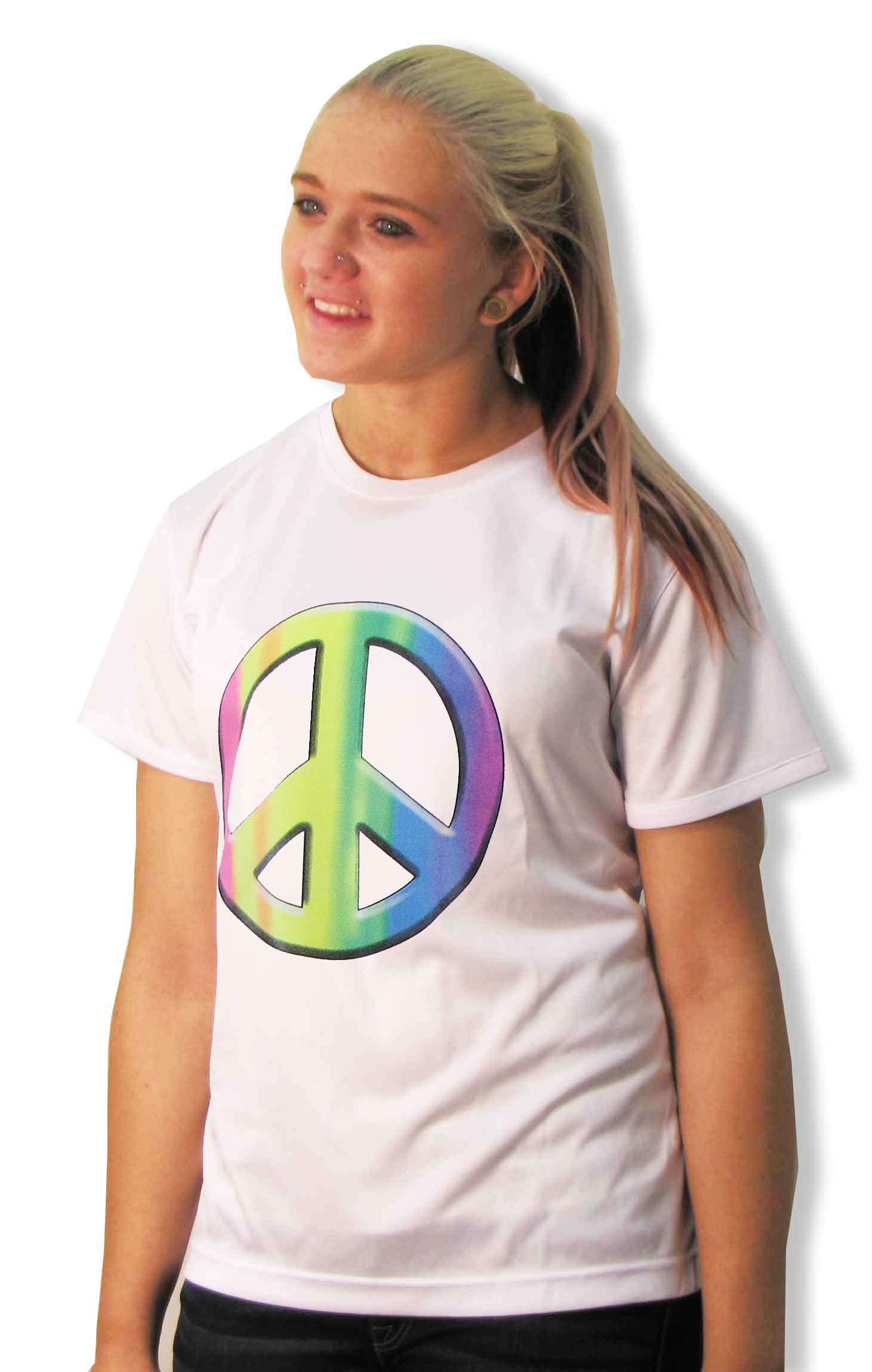 Peace Sign shirt for girls and wome by Code Four Athletics