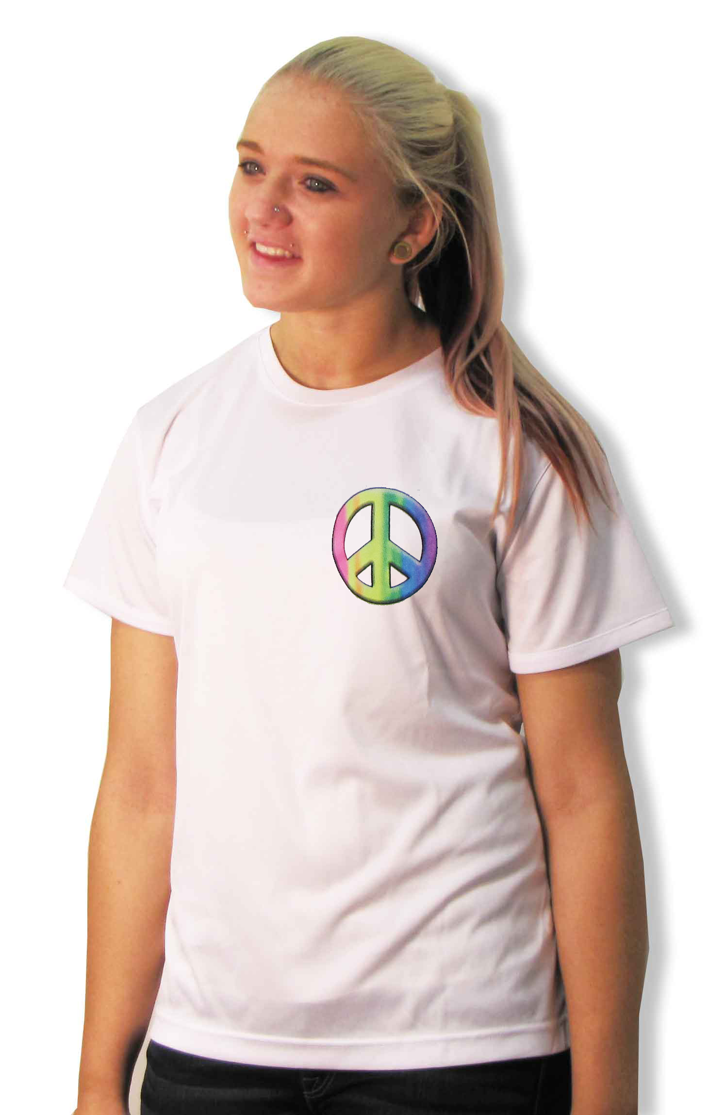 Peace Sign shirt for girls and women by Code Four Athletics