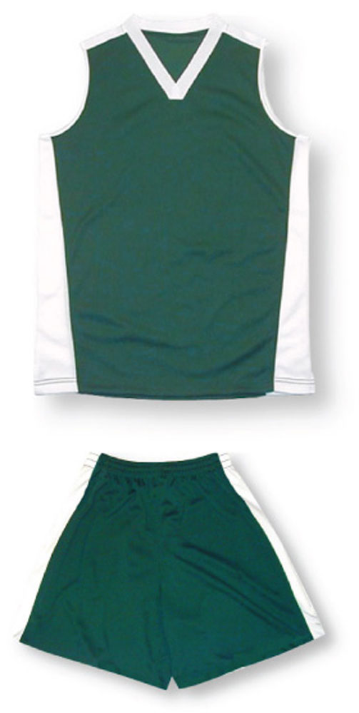Women's sleeveless soccer uniform kit in forest by Code Four Athletics