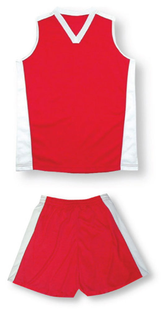 Women's sleeveless soccer uniform kit in red by Code Four Athletics
