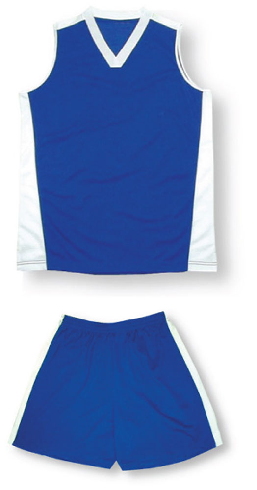 Women's sleeveless soccer uniform kit in royal by Code Four Athletics