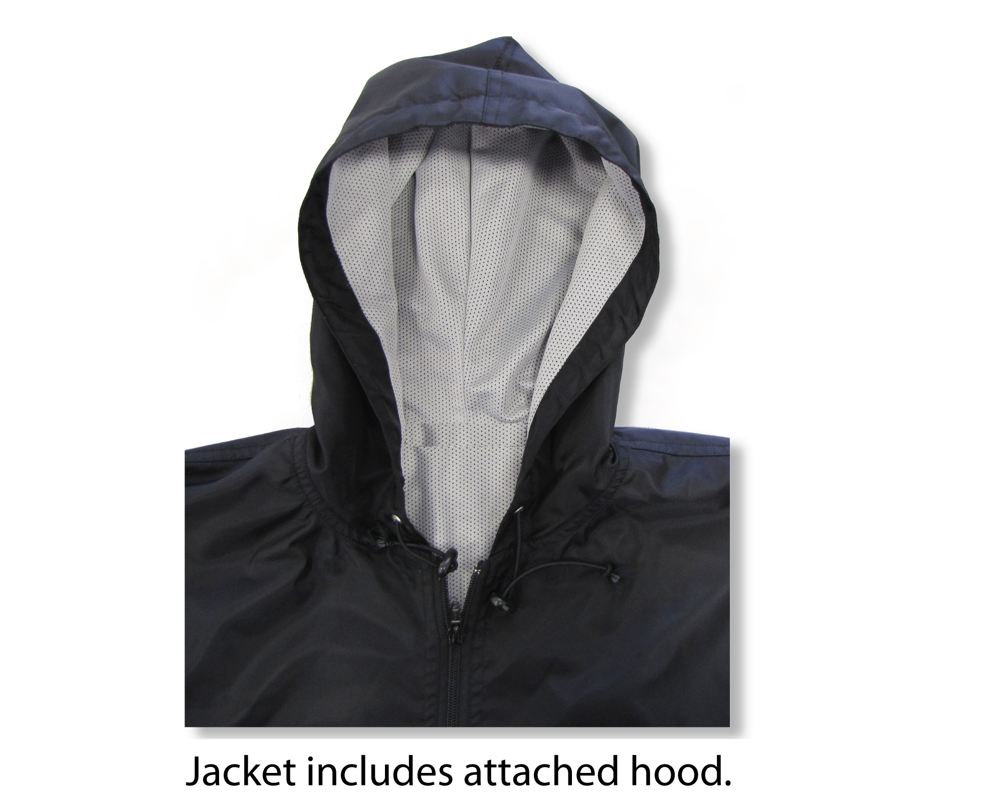 Windbreaker hood inset photo by Code Four Athletics