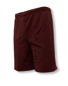 Unpadded soccer goalie shorts in maroon by Code Four Athletics