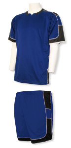 Vittoria soccer uniform kit by Code Four Athletics in navy/black
